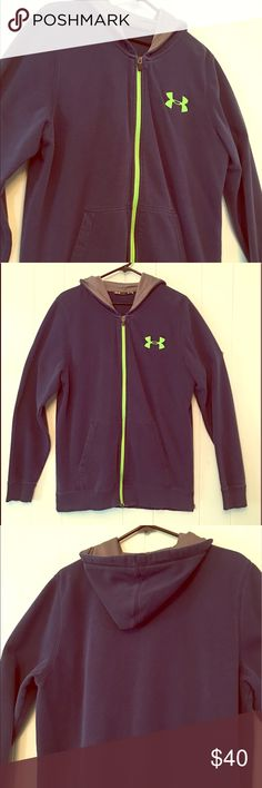 Under Armor Blue Men's Hoodie Under Armor Hoodie, Great Condition. Under Armour Shirts Sweatshirts & Hoodies