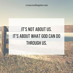 "Is there something God's calling you to do that you feel ill-equipped for? Remember, God's ways are not our ways. He can do exceedingly more than we ask or imagine regardless of how skilled, talented, confident, or equipped we are. It's not about what we can do, it's about what He can do through us. We just need to surrender and obey! ""I can do all things through Christ who strengthens me."" Philippians 4:13"