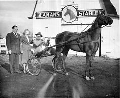 1948: A pacer, owned by Sandy Beaman of Decatur, went from an unraced 'maiden' class to a top class winner. The horse was trained in Decatur at Beaman's Stables before being introduced to the track. From left are Mr. Beaman, Mrs. Beaman and Charles Nieft, stable foreman. (H file photo) herald-review.com...