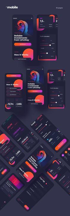 Investments Landing Page on Behance Web Design, App Ui Design, Software Apps, Art Web, Mobile Design, Interactive Design, Website Template, Design Inspiration, Design Ideas