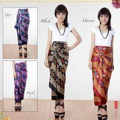 Meribell Songket Wrap Maxi Skirt