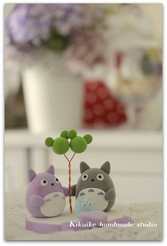 Love totoro wedding cake topper | Flickr - Photo Sharing!