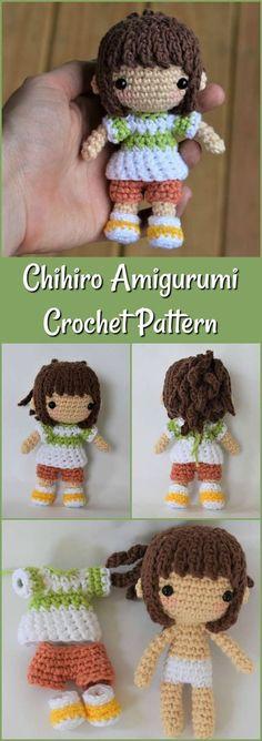 Chihiro Amigurumi Crochet Pattern / Photo Tutorial / Spirited Away Inspired Amigurumi Crochet Pattern #ad #amigurumi #crochetpattern #amigurumipattern #amigurumidoll