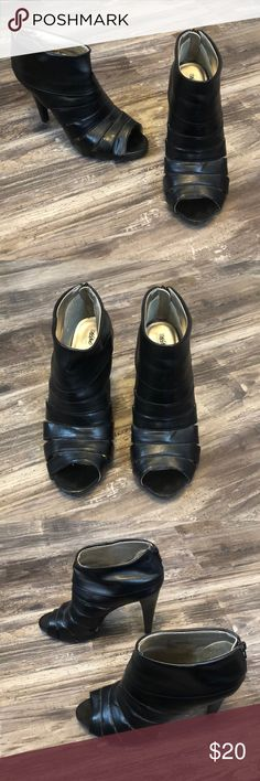 03e3be9151ed Mossimo Black Leather Heels Mossimo Black Leather Heels. In Good Condition  with Minimal wear (