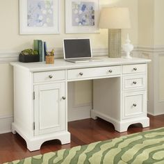 Home Styles Naples White Computer Desk