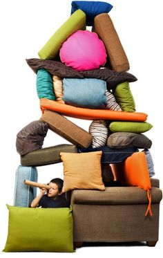 don't be afraid to have fun with the kids! go ahead and build a fort out of #pillows  #kids #fun