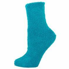 Turquoise Plush Soft Fuzzy Socks