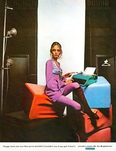Twiggy, for Olivetti typewriters - 1960s