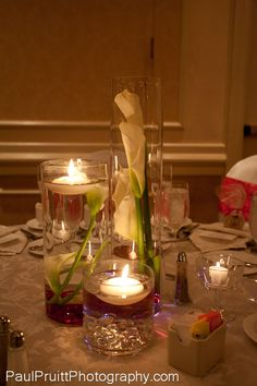 Table setting using one of our recommended florists
