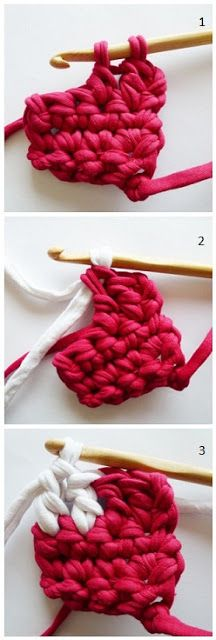How to change color in crochet - Pull the new color through the very last stitch.