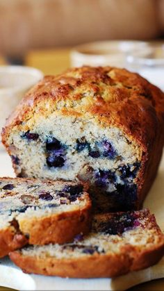 Moist banana bread with blueberries..jpg