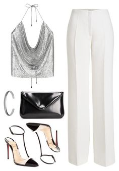 """Untitled #2542"" by annie-leah ❤ liked on Polyvore featuring Agnona, Christian Louboutin and Maison Margiela"