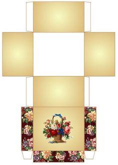 flower basket miniature printable