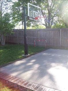 Backyard Basketball On A Concrete Slab Well Done Basketball - Backyard basketball court ideas