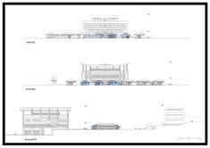 판문점 Panmunjom – JSCQ Joint Security Area, Longitudinal Section, Freedom House, Wooden Columns, Korean Peninsula, Restaurant Marketing, Create Space, Architecture Plan, Concert Hall