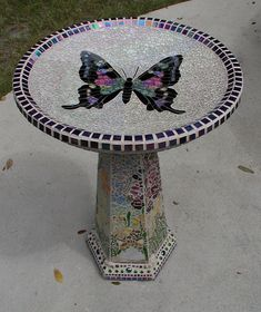 Jan and Joe's Butterfly Birdbath