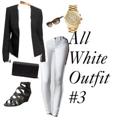 All White Outfit #3 by adowling on Polyvore featuring Old Navy, American Eagle Outfitters, Madden Girl, Urban Expressions, MICHAEL Michael Kors and Ray-Ban