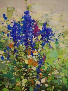 "Saatchi Art Artist Vahe Yeremyan; Painting, ""Lavenders, Abstract Flowers, Original oil Painting, One of a Kind"" #art"