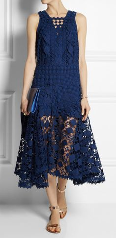 Crocheted lace midi dress - Would like the bottom layer longer, but this is gorgeous