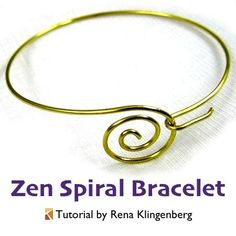 good info for measuring length ....Zen Spiral Bracelet - tutorial by Rena Klingenberg
