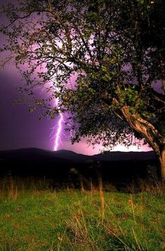 Lightning over the mountains