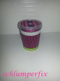 Abfallbehälter aus Röstzwiebeldose / Table bin made of roast onion container / Upcycling