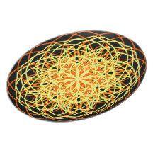 Kaleidoscope Mandala Art Energy Flower Yellow Dinner Plates
