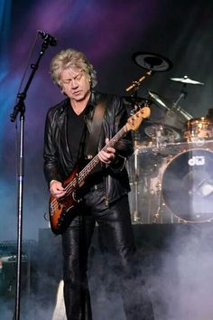 John Lodge - bassist and co-lead singer for the Moody Blues. The group performed classical rock, beautifully combining orchestral and electric rock instrumentation.