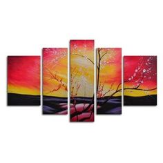 The Great Beyond 5-Piece Canvas Wall Art - 68W x 40H in.