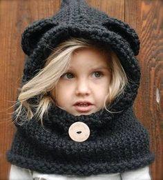 Tejidos patrón de oso de la capucha