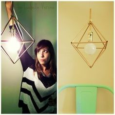 Oi gente!! Voltei hoje, depois de mil anos, pra mostrar pra vcs uma idéia bem legal para decorar sua casa. Fiz uma luminária de p...