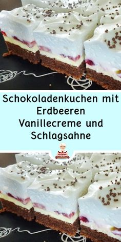 Funny Cake, Easy Baking Recipes, Cakes And More, Vanilla Cake, Muffins, Food And Drink, Pudding, Sweets, Snacks