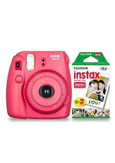Fujifilm Instax Mini 8 camera with 20 shots - Raspberry Pink