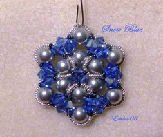 Snow Blue Ornament