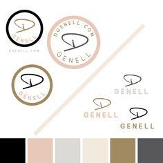 Clean Logo samples for @dgenell Lifestyle Blogger | PaintedBagels.com