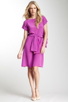 Alberta Ferretti Crepe de Chine Cascading Silk Dress on HauteLook was 1175.00 now $359.00