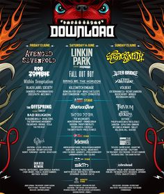 Poster | Download Festival 2014 Going to Sunday to see Aerosmith ........