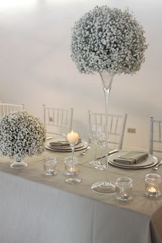 Gypsophila sphere arrangement by Volària