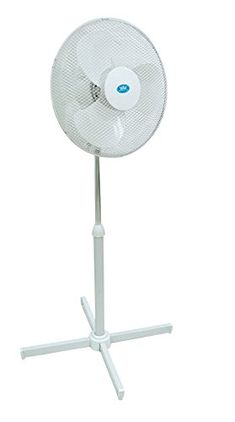 Sale £39.99 from £79.99  16″ Fan (Cold Air) – 16 inch Pedestal Static & Wide Angle Oscillating Cooling Electric Fan (40cm) speed Adjustable Tilt (Floor standing model – height adjustable) – High Quality Model – Powerful 45 watt  Not all fans are the same! – This model is CE Safety Approved (UK / Europe) – RoHS Compliant – Compliant to all UK & EU Directives (Chinese sellers do not have to conform to our high safety requirements)
