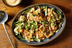 A tofu and bok choy sheet-pan dinner recipe with tangy peanut sauce - The Washington Post