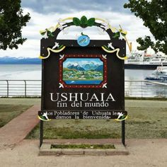 The Fin Del Mundo sign (End of the World) in Ushuaia, Argentina