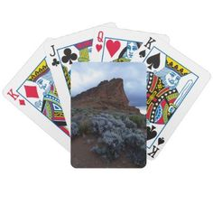 Fort Rock Oregon playing cards by SpontCombustion