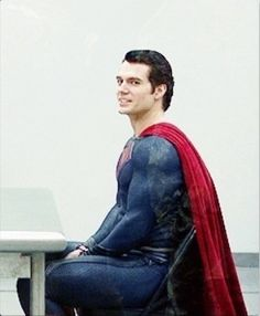 Superman (Henry Cavill) sitting at a table - Real Superman, Superman Henry Cavill, Superman Man Of Steel, Batman Vs Superman, Cute Celebrities, Celebs, Bound By Honor, Dc Comics, Clark Kent