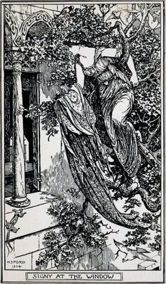 Asmund and Signy - The Brown Fairy Book by Andrew Lang, 1904