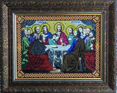 Icon of The Last Supper Jesus russia Byzantine orthodox Russe icone Ikona