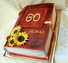 torta kniha so slnečnicami