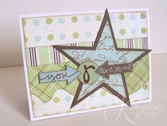 L.O.V.E. this card Gail Owens made with stamps from TechniqueTuesday.com & templates from Kiwi Lane Designs. It's like they were made to work together.