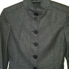"""Burberry lined lightweight jacket Burberry lined lightweight jacket. 67% wool 20% angora 10% cashgora 3% elastin. Bust 31"""". Waist 24"""". Sleeve length 23.5"""". Size UK 0. US 2. (I can model but this is too small for me to button up) not a jacket for a larger chest :-( NWOT-Perfect condition, no wear or tear. Burberry Jackets & Coats Blazers"""