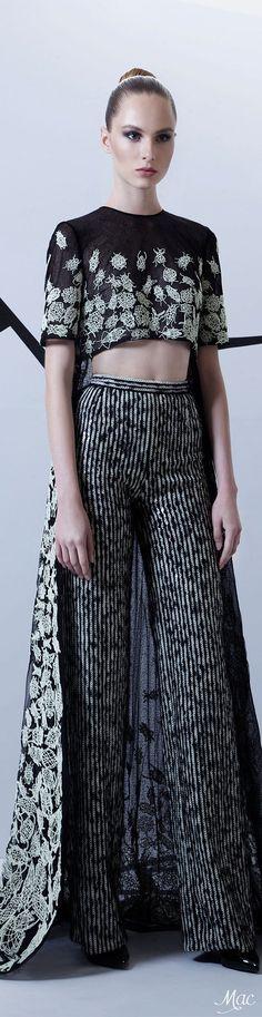 Fall 2015 Couture Rami Kadi (Sewn with Luminous Threads and Sequins)