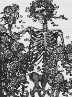 Gothic Skeleton Cross Stitch Pattern